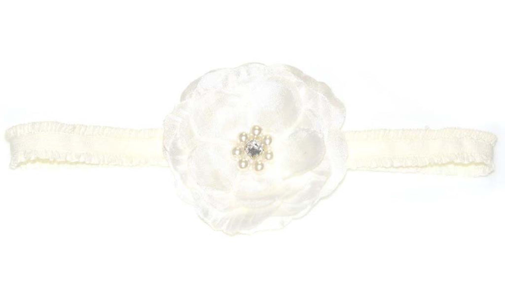PEARL DIAMANTE FLOWER HEADBAND
