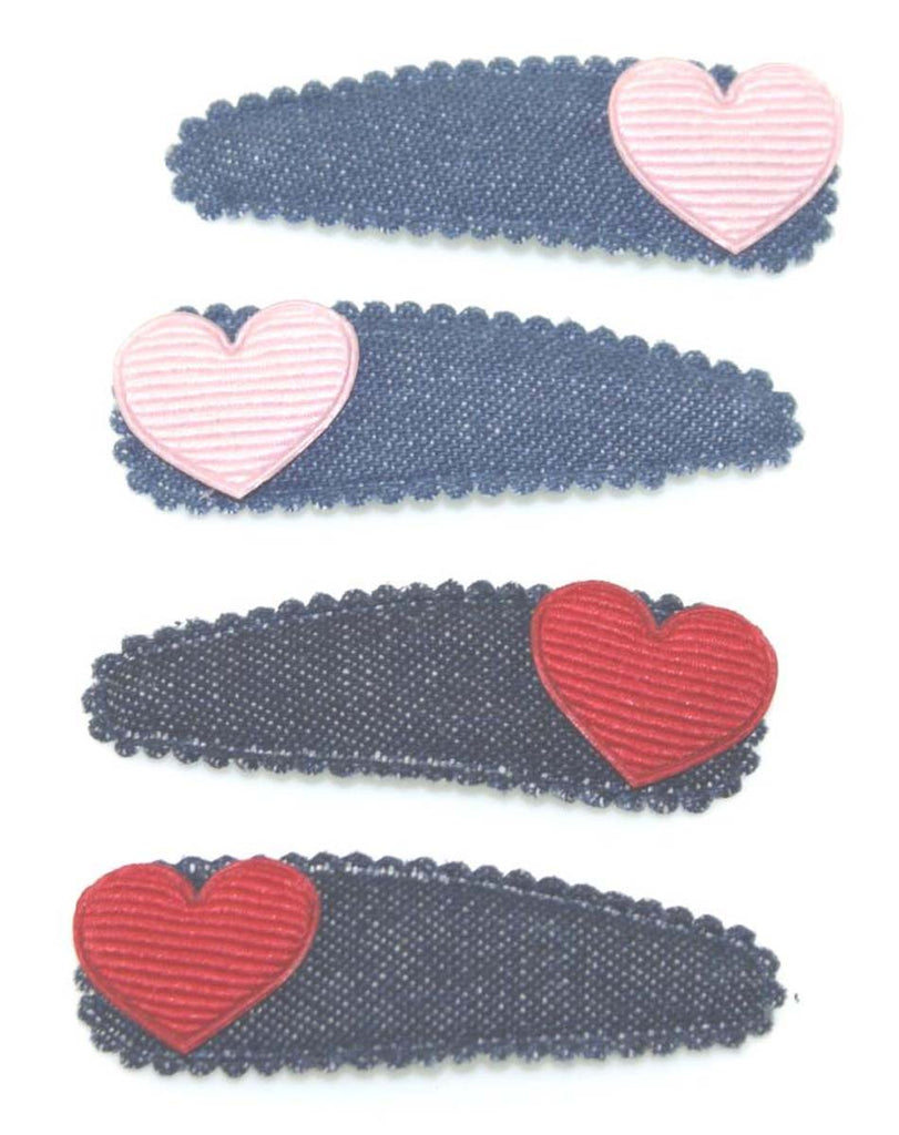 HEART DENIM SNAPS