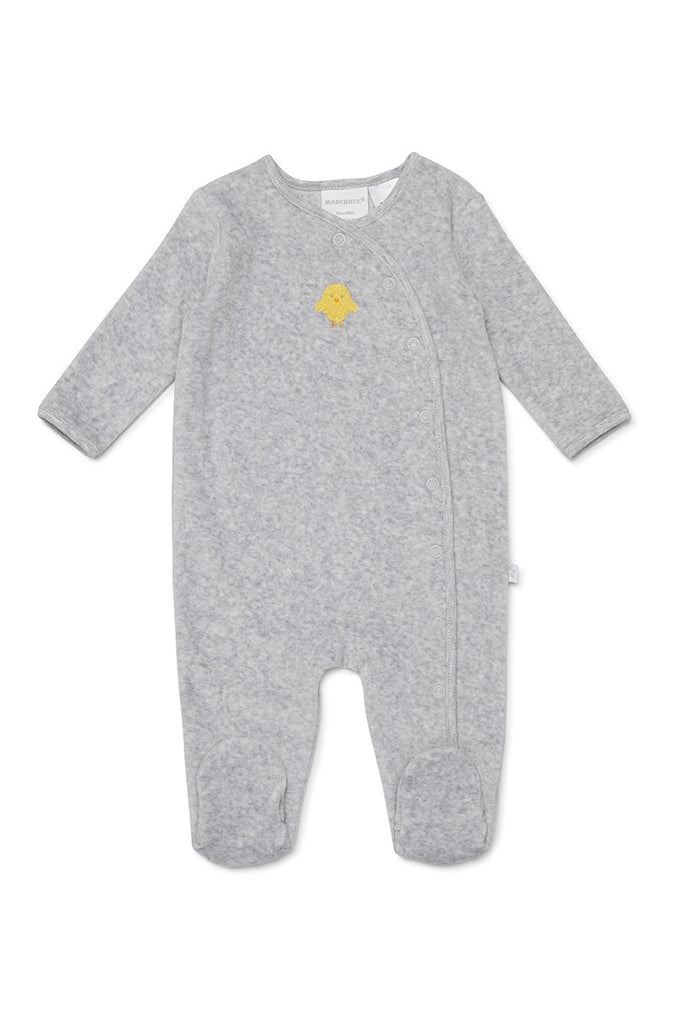 VELOUR STUDSUIT CHICK - GREY