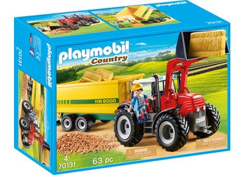 Playmobil - Tractor with Feed Trailer