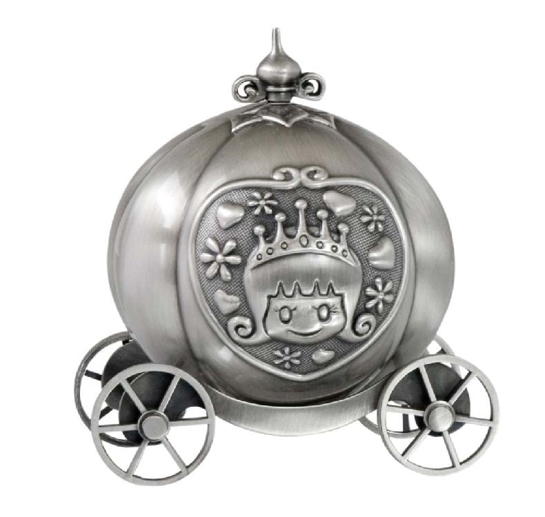 Money Box Pumpkin Coach Pewter