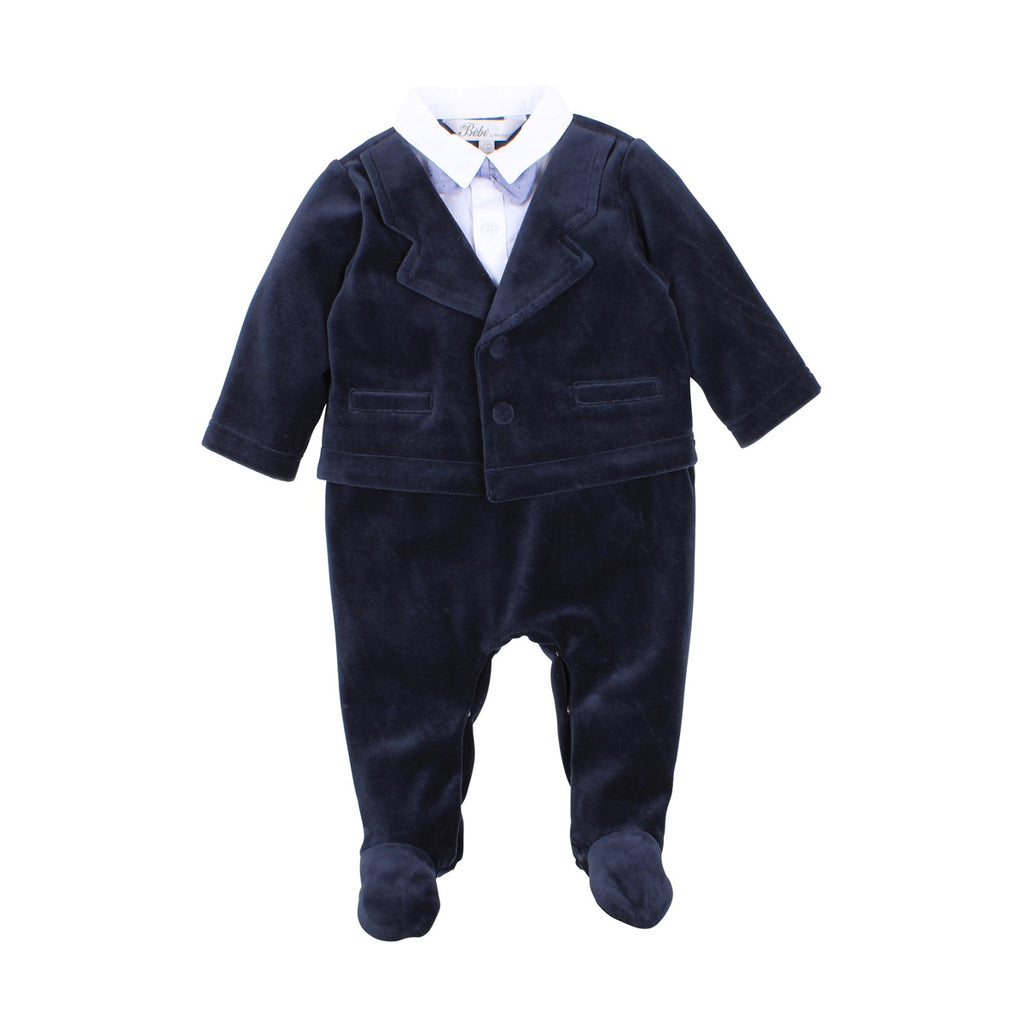 GEORGE SUIT ROMPER NAVY