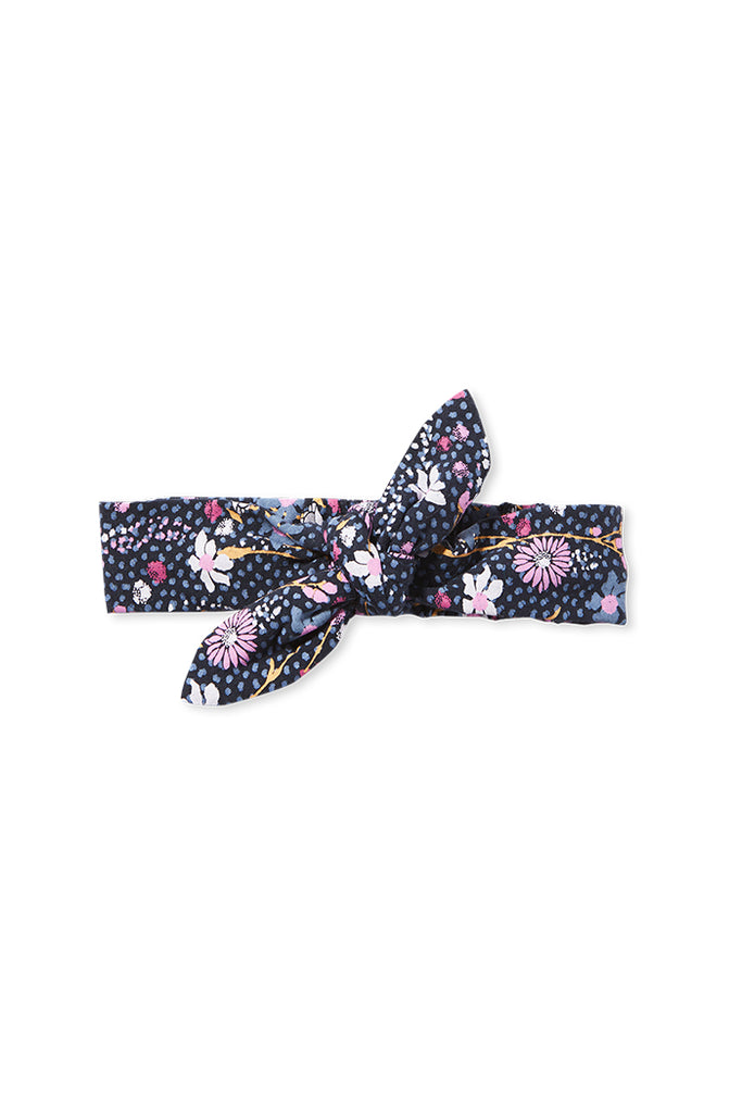 WILD FLOWER HEADBAND FRENCH NAVY