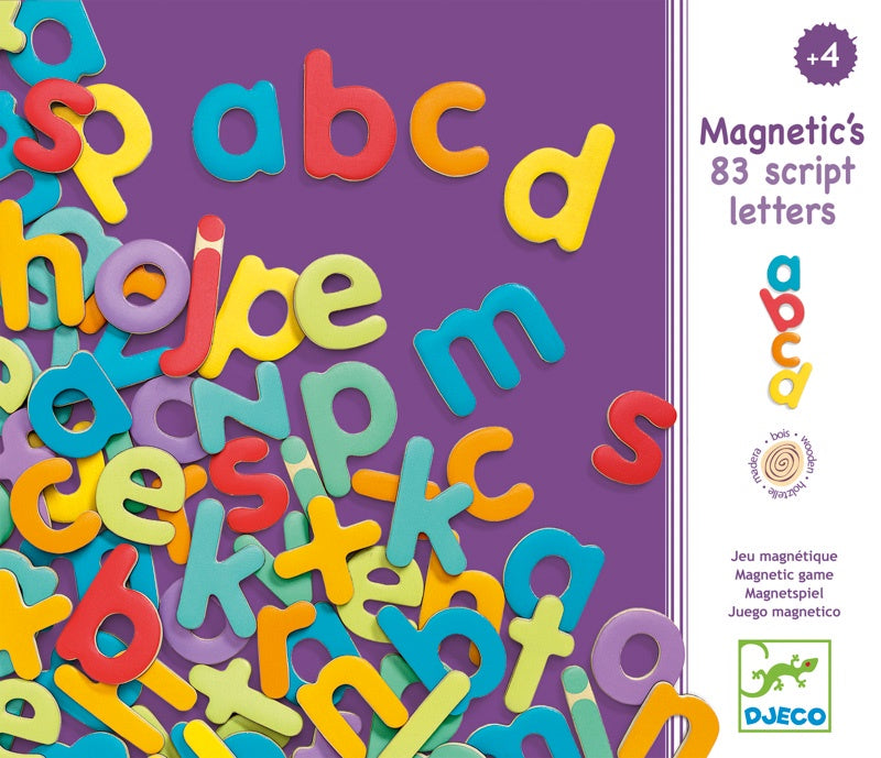 Wooden Magnetic Lower Case Letters