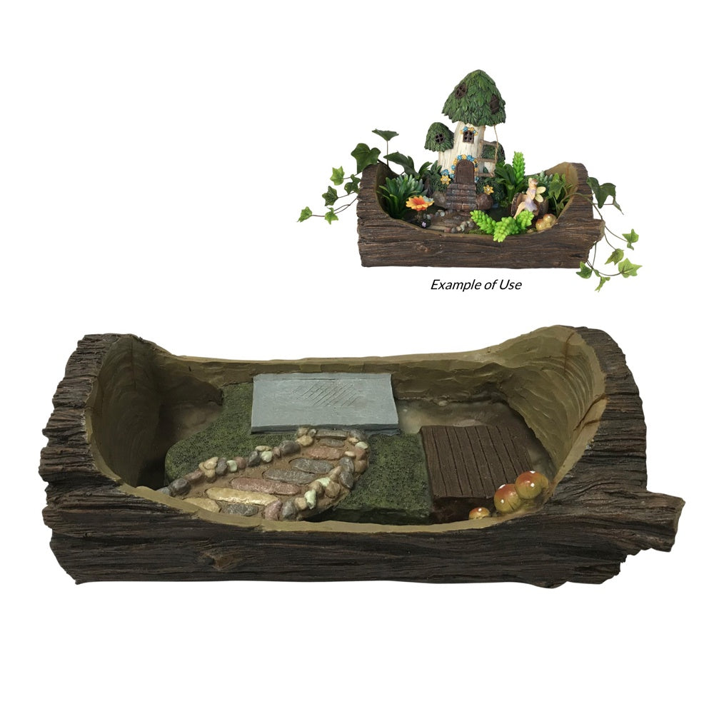 Fairy Garden Log Planter Base