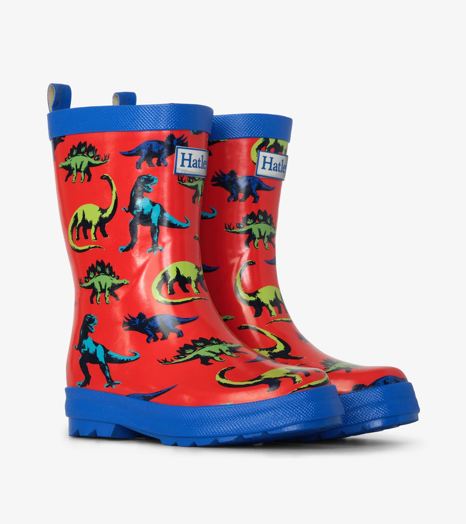 PAINTED DINOS SHINY RAIN BOOT