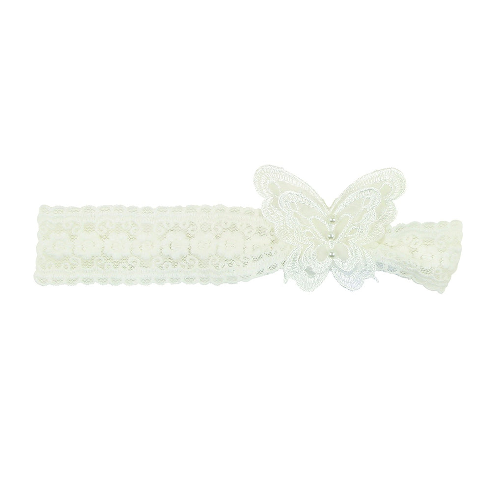 LACE BUTTERFLY HEADBAND IVORY