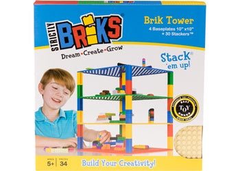 Classic Brik Tower Construction Set - 34 pcs