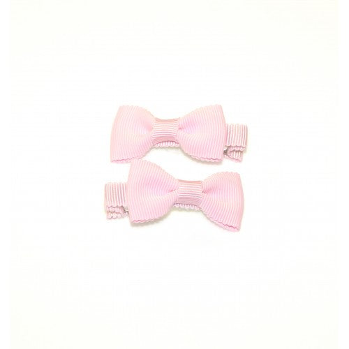 SCALLOPED EDGE GROSGRAIN BOW CLIPS