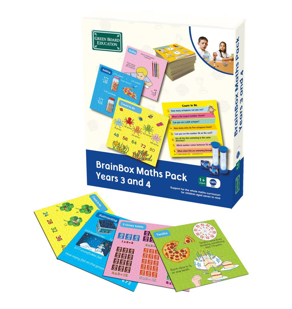 Brain Box Maths Pack Years 3 and 4