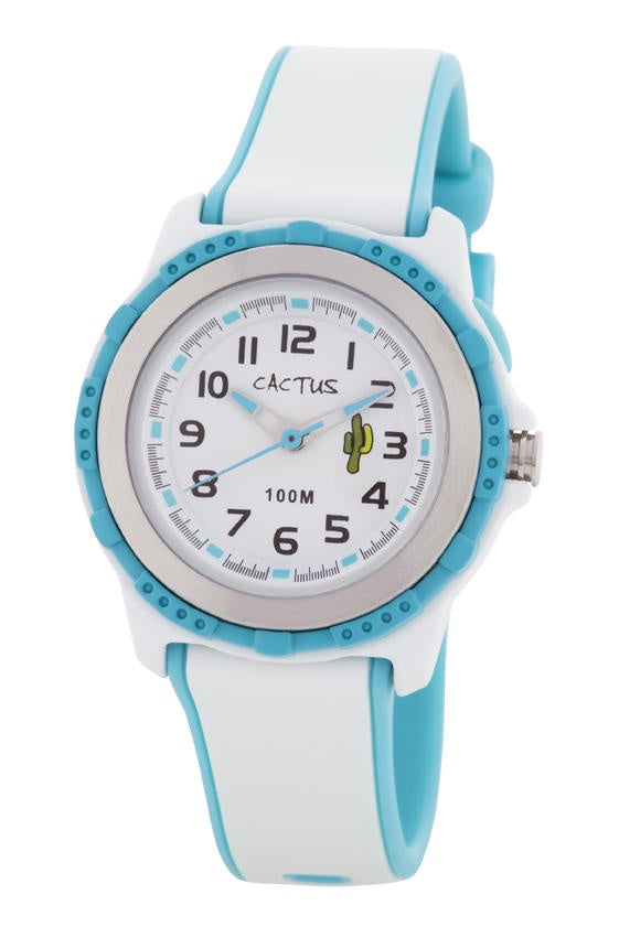 Cactus Watch White/Turquoise