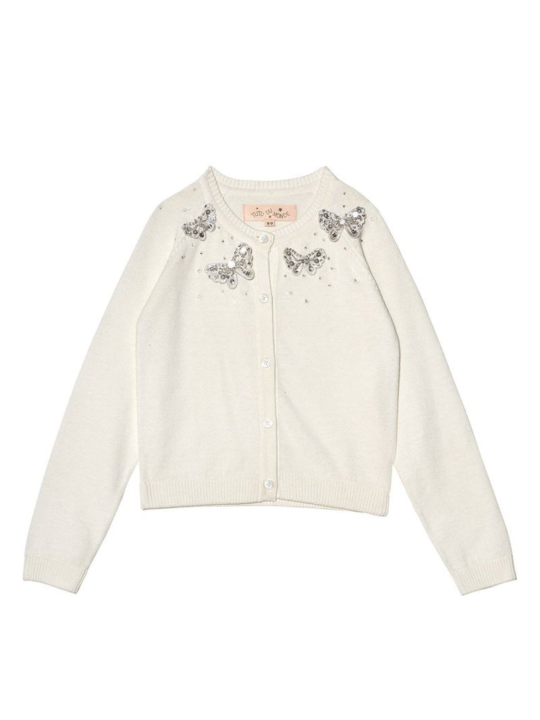 MADAME BUTTERFLY CARDIGAN MILK