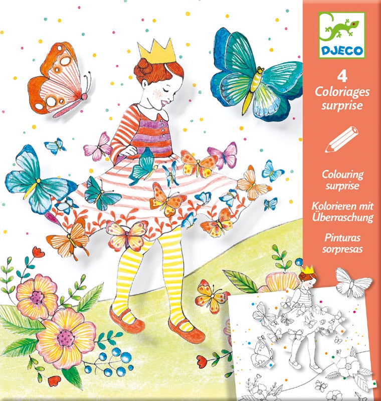 Lady Butterfly Colouring Surprise