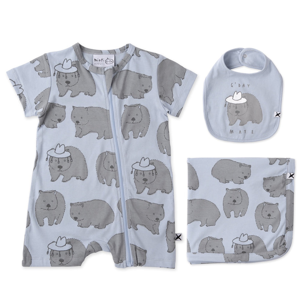 Wombat Buddies Gift Pack - Light Blue