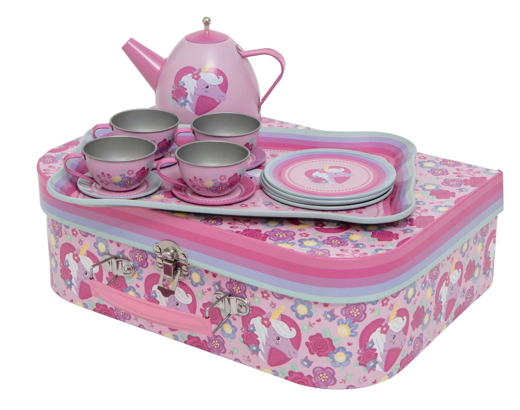 Vintage Tea Set Tin - Unicorn