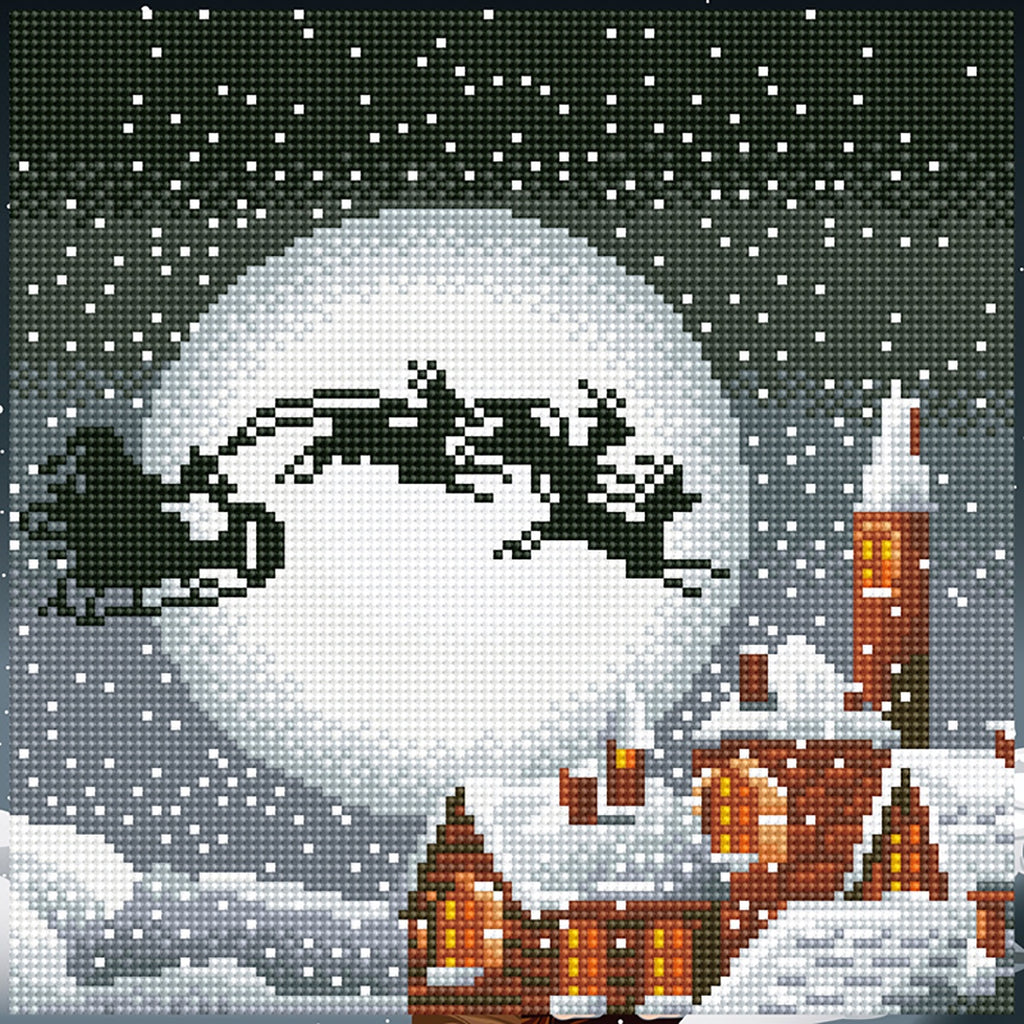 DIAMOND ART - SANTA SLEIGH