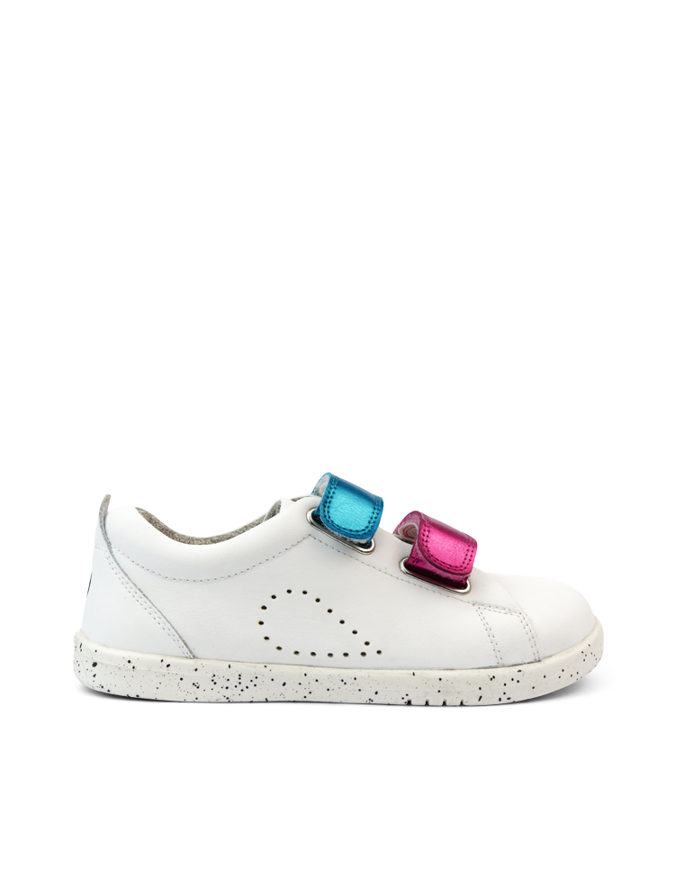 KP Grass Court Switch White (Raspberry Metallic + Peacock Metallic)