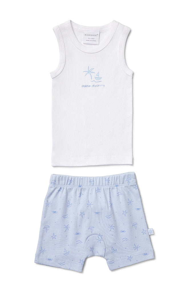 Singlet & Short Set Ocean Dreams