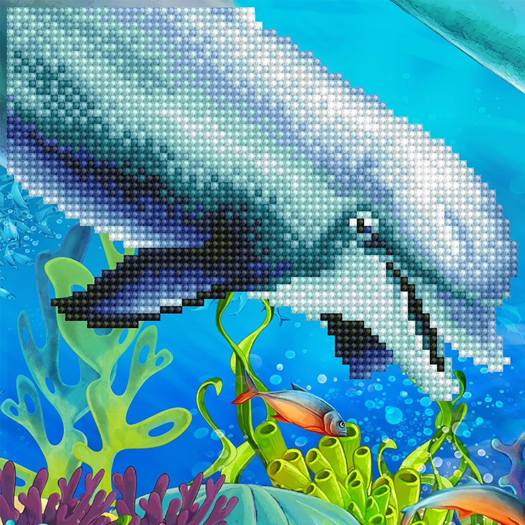 DIAMOND ART - DOLPHIN