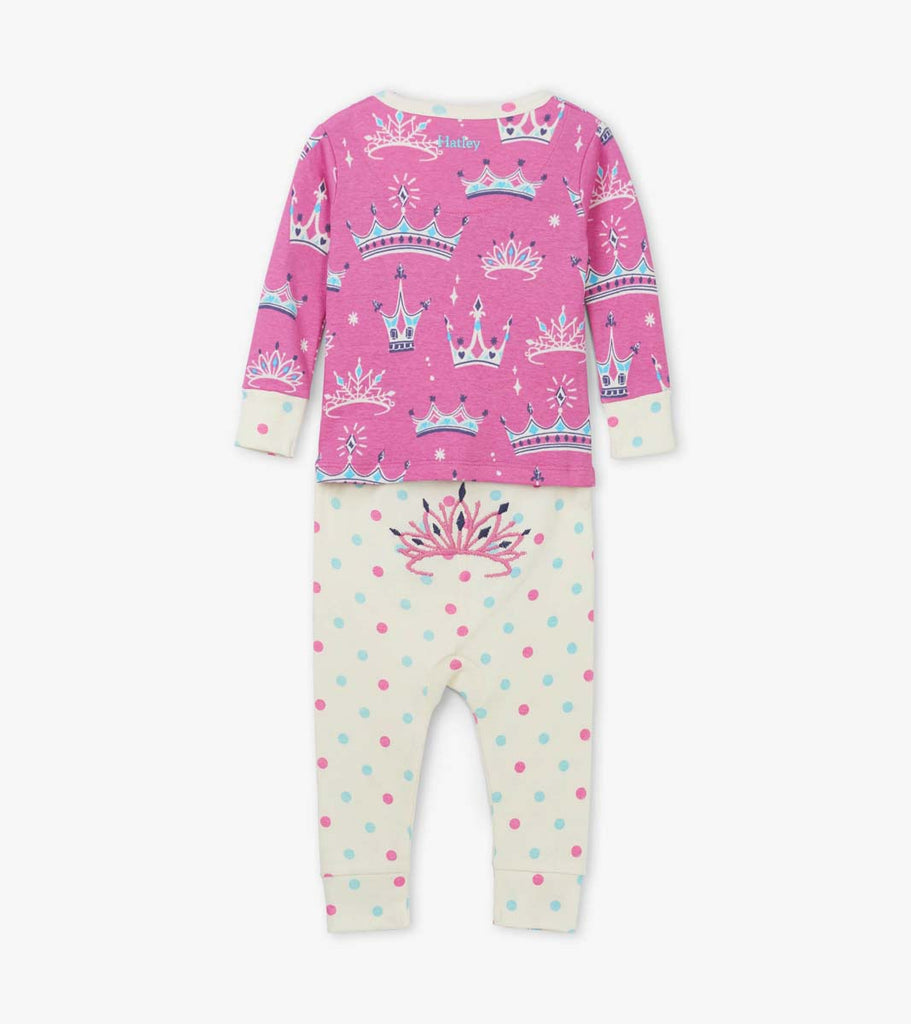 Pretty Princess Organic Cotton Baby Pyjama Set