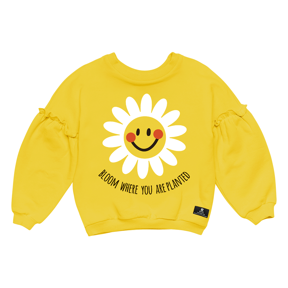 BLOOM SWEATSHIRT - MUSTARD