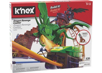 knex - Dragon Revenge Roller Coaster - Ride It
