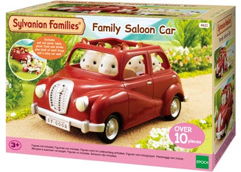 Family Saloon Car - Red