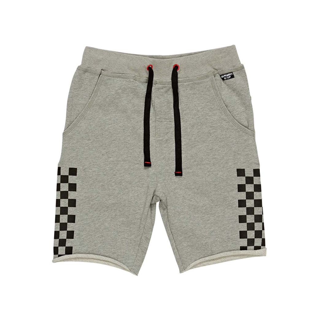 SPEED CHECK SHORT GREY MARLE