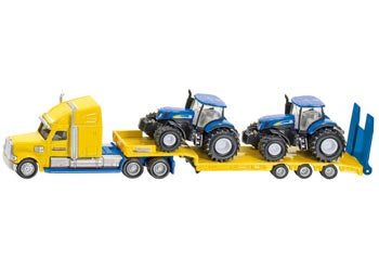 Siku - Truck with 2 New Holland Tractors 1:87