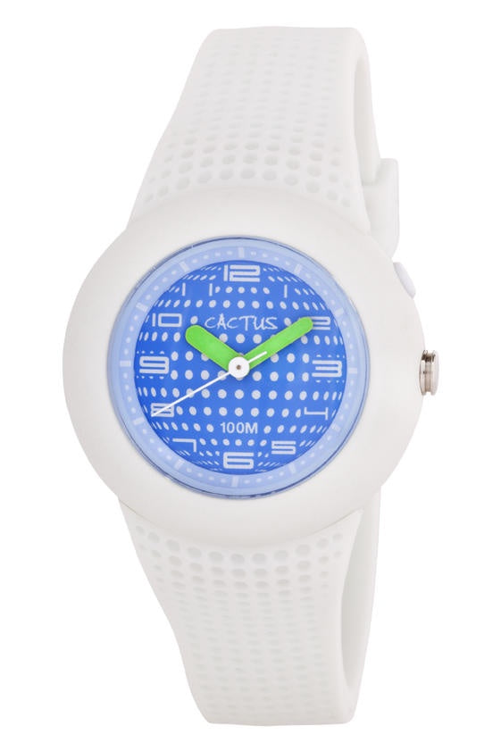 Cactus Watch White/Blue 100M
