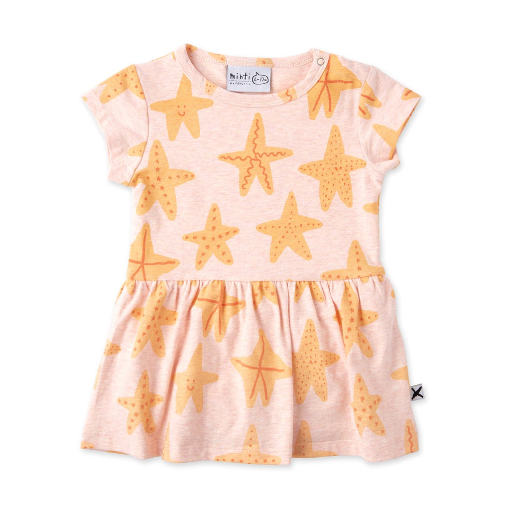Starfish Buddies Onesie Dress - Blush Marle