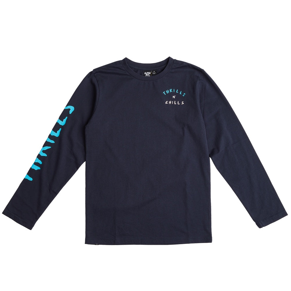 CHILLS LS TEE OCEAN TEAL NAVY
