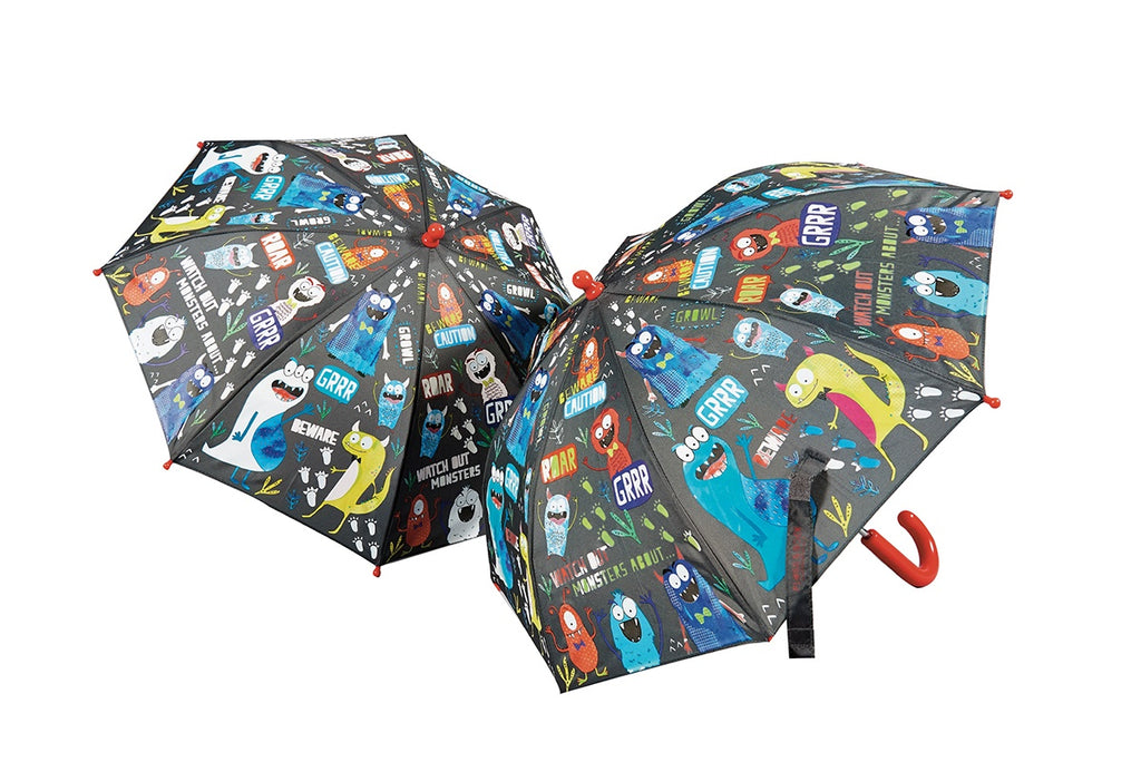 Floss & Rock Colour Changing Umbrella - Monsters