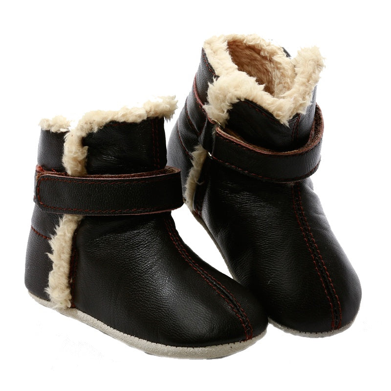 Pre-walker Baby & Toddler SNUG Boots Chocolate