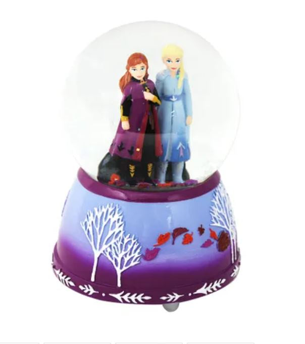 Frozen 2 Anna and Elsa Musical Snowglobe