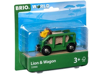 BRIO Vehicle - Safari Lion and Wagon