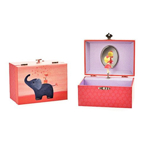 MUSICAL JEWELRY BOX ELEPHANT