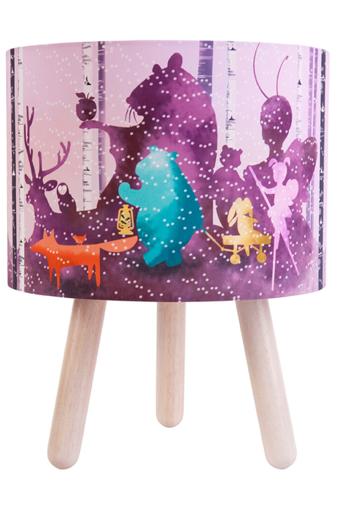 Wild Imagination Fabric Lamp, Pink