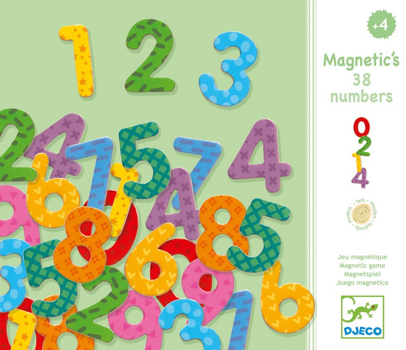 Wooden Magnetic 38 Numbers