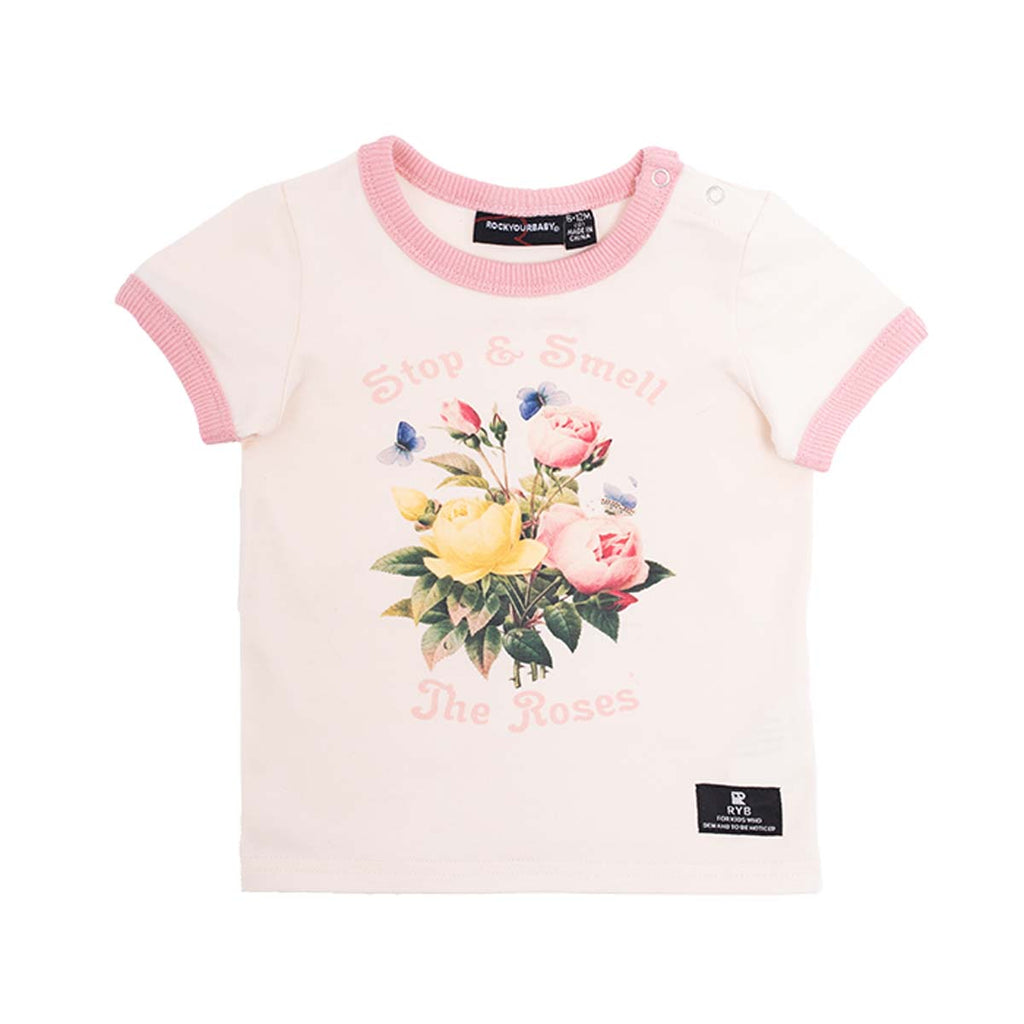 SMELL THE ROSES - SS T-SHIRT CREAM