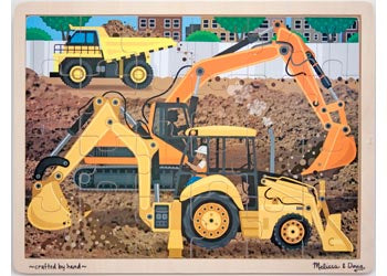 Diggers At Work Jigsaw - 24pc