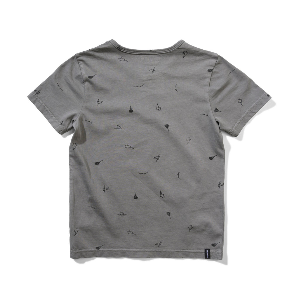 ASHCON TEE WASHED CHARCOAL