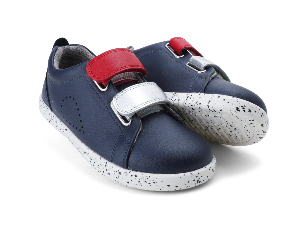 KP Grass Court Switch Navy (Red + Silver)