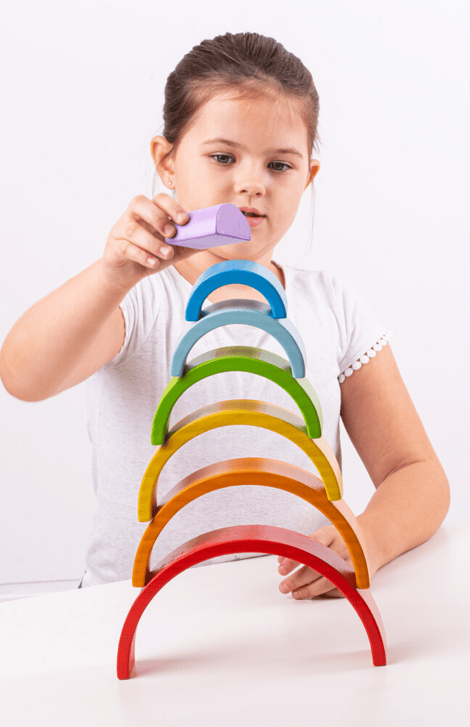 Bigjigs Toys - Wooden Stacking Rainbow - Small