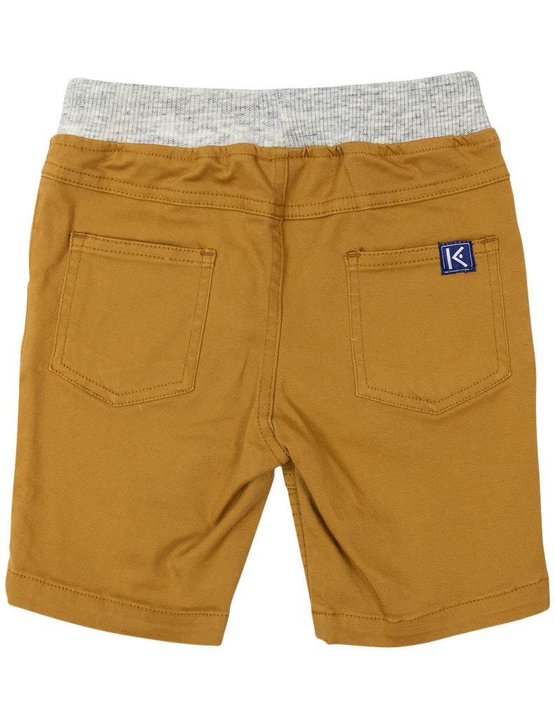 Nautical Stretch Twill Short Mustard