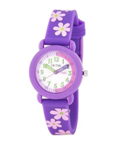 Timekeeper - Kids Watch Time Teacher - Purple Flowers
