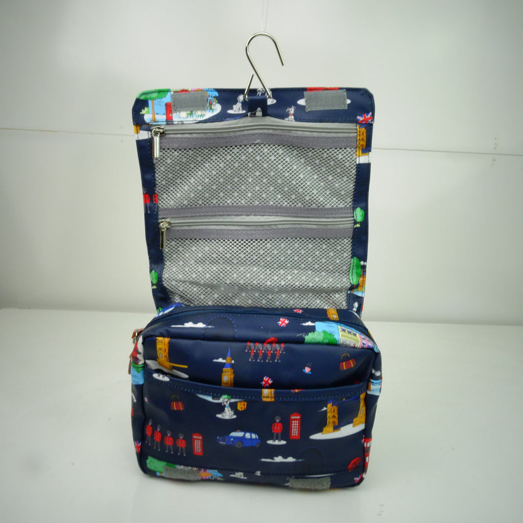 Roll Down Toiletry Bag Navy England