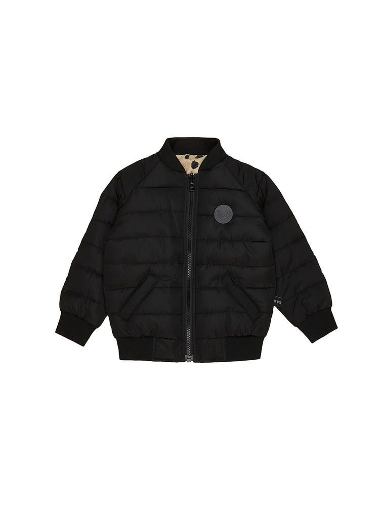 ANIMAL SPOT REVERSIBLE BOMBER BLACK / SAND