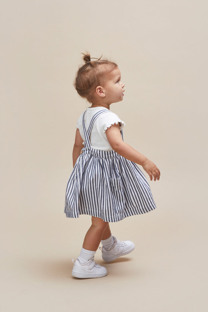 STRIPE REVERSIBLE PINAFORE