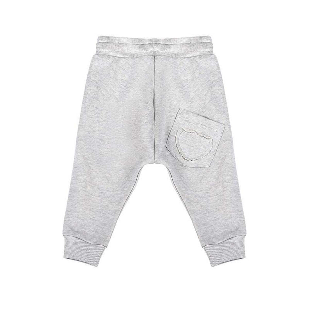 Frilled Trackies - Light Grey Marle